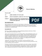 Atherton Parcel Tax - 2009 Staff Report