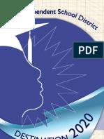 Destination 2020 brochure in Dallas ISD