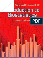 Introduction to Bio Statistics 2nd Edition R  Sokal F  Rohlf