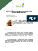 El uso de la chupeta,el chupón y la succión del dedo versus el desarrollo del habla en los niños