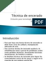 Técnica de encerado.pptx