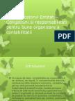 Conducatorul Entitatii-Obligatiuni Si Responsabilitati Pentru Buna Organizare