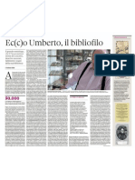 Stefano Salis Ec(c)o Umberto, Il Bibliofilo