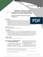 Contribuições teóricas e grupo operativo com pré-adolescentes