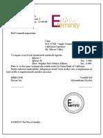 Model Scrisoare Oficiala
