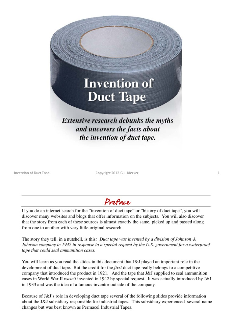 Invention of Duct Tape | Apollo Program | Duct (Flow)