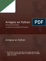 Arreglo s Python