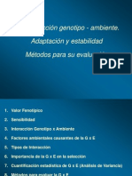 INTERACCION GENOTIPO AMBIENTE ADAPTACION Y ESTABILIDAD METODOS PARA SU EVALUACION.pptx