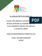 Faktor-faktor yang mempengarhi FDI di Malaysia
