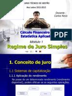 Cálculo Financeiro Módulo 1