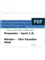 Environmental Laws in India- Overview and Important ACTs