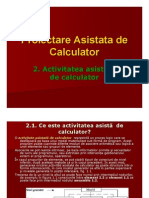 Cap 2-Activitatea Asistata de Calculator