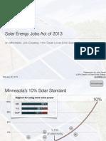 Solar Energy Jobs Act of 2013 - Bill Presentation