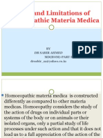 scope and limitations of homoeopathic materia medica