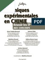 Techniques Expérimentales En Chimie
