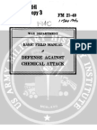 1940 US Army WWII Defense Against Chemical Attack 158p.