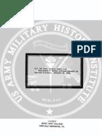 1941 US Army WWII German Antitank Reg. NonTask Missions 5p.