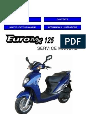 Sym Euro MX 125 (EN) | Carburetor | Motor Oil