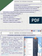 SUPORT 01 CLS9 TIC CAP03 Sistemul de Operare Windows