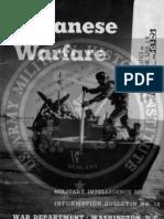 1942 US Army WWII Japanese Warfare Bulletin 12 36p.