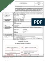 Ficha Tecnica y Diagrama de Flujo de Leche Condensada