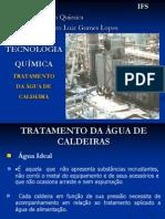 Tratamento de Água de Caldeira - IFS - 2012