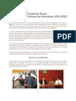 Informe Fundación Doster 2011-2012