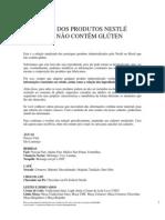 Lista Nestle - Alimentos Sem Gluten - Janeiro-2013