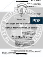 1944 US Army WWII German 21st Panzer Division France 76p.