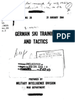 1944 US Army WWII German Ski Training and Tactics 118p.