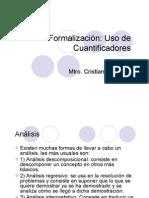 Formalización - Repaso y Cuantificadores