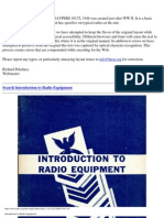 1946 US Navy WWII Intro to Radio Equipment 308p.