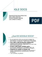 D6 - Google Docs (Power Point)