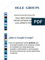D6 - Google Groups (Power Point)
