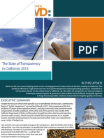 State of Transparency in California in 2013