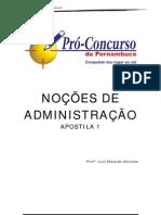 Noções de Administração - AdministraÇÃo Financeira e OrÇamentÁria