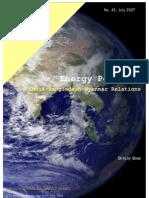 Engergy Politics ( Burma-Myanmar )
