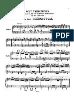 Beethoven Eight Variations Ich Hab Ein Kleines Huttchen Nur