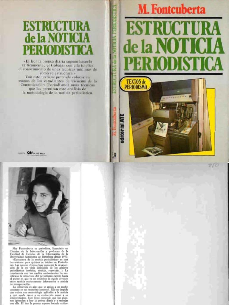 Fontcuberta Mar Estructura De La Noticia Periodistica