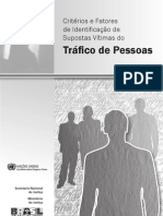 Critérios e Fatores de Identificação de Supostas Vítimas do Tráfico de Pessoas