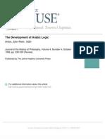 Anton review Nicholas Rescher, Development of Arabic Logic