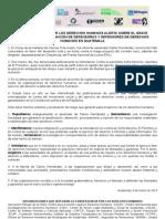 Comunicado Convergencia por los Derechos Humanos en Guatemala