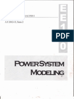 POWER SYSTEM MODELING