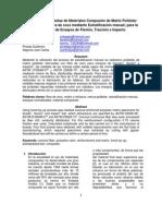 Obtención de Probetas de Materiales Compuesto de Matriz Poliéster reforzados con fibra de coco mediante Estratificación manual