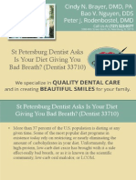 St Petersburg Dentist Asks is Your Diet Giving You Bad Breath (Dentist 33710)