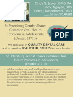 St Petersburg Dentist Shares Common Oral Health Problems in Adolescents (Dentist 33710)