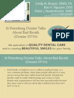 St Petersburg Dentist Talks About Bad Breath (Dentist 33710)