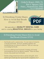St Petersburg Dentist Shares How to Avoid Bad Breath (Dentist 33710)