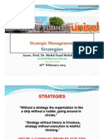 Strategic Management L4 - STRATEGIES