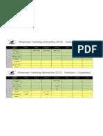 2013 riverway rowing club - term  4 training schedule october - december